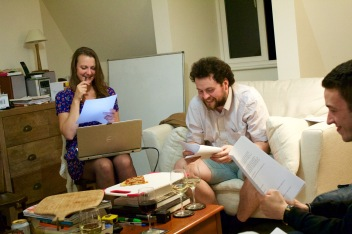 Katharine Kerr (Producer) and Arfie Manfield (Johnny Stumbles) enjoy the moment.