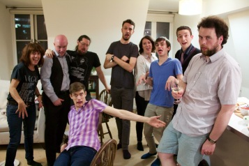 Left to right: Mark Tindle, Charles Scherer, Steff Prince, Mark Wheeler, Kate Oswald, Brendan Way, Dan Luxton and Arfie Mansfield